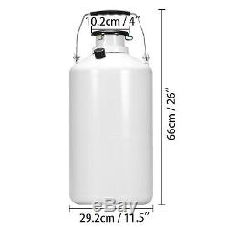 10 L Liquid Nitrogen Container Tank LN2 Storage Dewar 6 Pcs Pails YDS-10L