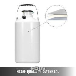 10 L Liquid Nitrogen Cryogenic Dewar Container Tank + 6 Pcs Pails + Lock Cover