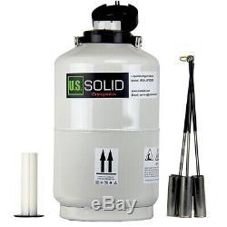 10 L Liquid Nitrogen Tank Cryogenic Dewar Container Tank Semen Tank U. S. Solid