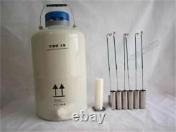 10 L Liquid Nitrogen Tank Cryogenic LN2 Container Dewar With Straps New oy