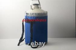 10 L Liquid Nitrogen Tank Cryogenic LN2 Container Dewar with Straps