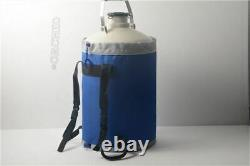 10 L Liquid Nitrogen Tank New Cryogenic LN2 Container Dewar With Straps oc