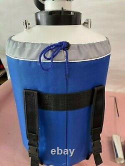 10L Liquid Nitrogen Cryogenic Dewar Container Tank Semen Tank LN2 Storage