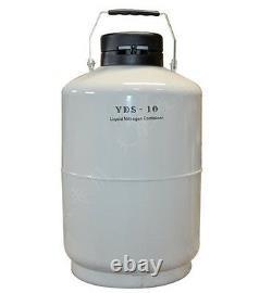 10L Liquid Nitrogen Tank Cryogenic LN2 Container Dewar with Straps