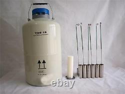 10L Liquid Nitrogen Tank Cryogenic LN2 Dewar Storage Container