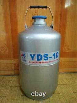 10L Liquid Nitrogen Tank Cryogenic LN2 Dewar Tank Container YDS-10