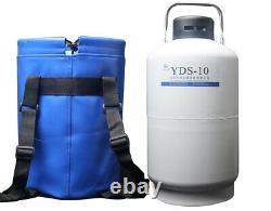10L liquid nitrogen containers 10 liter LN2 tank dewar flask cylinder with strap