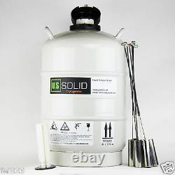 15 L Liquid Nitrogen Storage Tank Cryogenic LN2 Container Dewar U. S. Solid