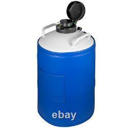 15L Liquid Nitrogen Tank Cryogenic Container LN2 Dewar+6Pcs Pails+Lock Cover
