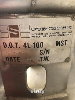 180 Liter Liquid Nitrogen Tank LN2 Dewar 180L PLC-180