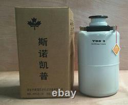1PCS 3L Cryogenic Liquid Nitrogen Container LN2 Tank Dewar with Straps