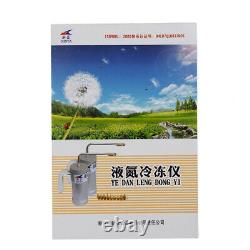 1X 300Ml Cryogenic Liquid Nitrogen Sprayer Dewar Tank Nitrogen Treatment Device
