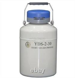 2 L Liquid Nitrogen Container Cryogenic LN2 Tank Dewar With Strap YDS-2-30 ls