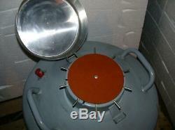 #2 Linde Super 30 Dewar Liquid Nitrogen tank vessel with 10 canister cryogenic