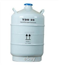 20 L Liquid Nitrogen Tank Cryogenic LN2 Container Dewar With Straps New wh