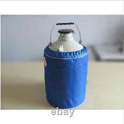 20 L Liquid Nitrogen Tank Cryogenic LN2 Container Dewar with Straps bi