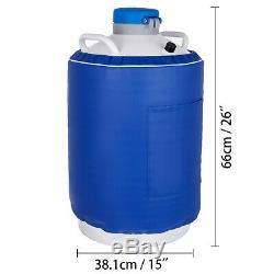 20 L Liquid Nitrogen Tank LN2 Dewar Cryogenic Container 6 Canisters U. S