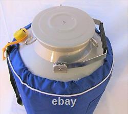 20L Liquid Nitrogen LN2 Storage Tank Container Cryo Dewar Wide Mouth 5 Neck New
