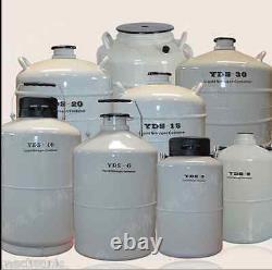20L Liquid Nitrogen LN2 Storage Tank Static Cryogenic Container LN2 Dewar Fast