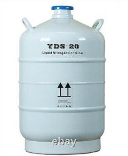 20L Liquid Nitrogen Tank Cryogenic LN2 Container Dewar With Straps With Cover ow