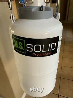 3.15 L Liquid Nitrogen Tank Container Storage Dewar LN2 6 Canisters U. S. Solid