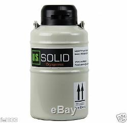 3 L Liquid Nitrogen Cryogenic Container Tank Dewar 6 Canisters U. S. Solid 25 days