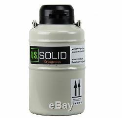 3 L Liquid Nitrogen Tank Container Storage Dewar LN2 6 Canisters U. S. Solid