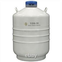 30 L Liquid Nitrogen Container Cryogenic LN2 Tank Dewar YDS-30 rr