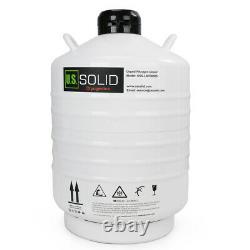30 L Liquid Nitrogen Container Tank LN2 Storage Dewar 6 Pcs Pails U. S. Solid