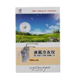 300ml Cryotherapy instrument Liquid Nitrogen (LN2) Sprayer Dewar Tank & 9 Heads