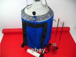 30L Cryogenic Liquid Nitrogen Container LN2 Tank Dewar With Straps A vc