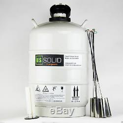 30L Liquid Nitrogen Tank LN2 Dewar Cryogenic Container