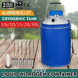 3L 6L 10L 15L 20L 30L Liquid Nitrogen Aluminum Container Tank Cryogenic Dewar