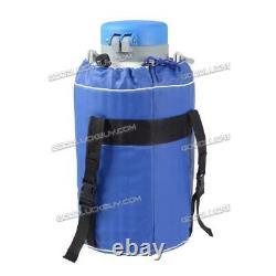 3L Liquid Nitrogen Tank Cryogenic Container LN2 Dewar + 6Pcs Pails+ Lock Cover H