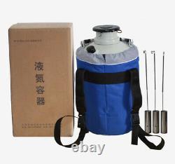 3L Protable Cryogenics Liquid Nitrogen Container Cryogenic LN2 Tank Dewar +Cover