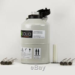 6 L Liquid Nitrogen Container Cryogenic Tank LN2 Dewar 6 Canisters U. S. Solid