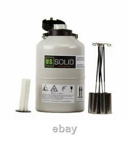 6L Liquid Nitrogen Container Cryogenic Tank LN2 Dewar 6 Canisters U. S. Solid