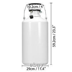 6L Liquid Nitrogen Tank Cryogenic Container Dewar Nitrogen Canister+6pcs Pails
