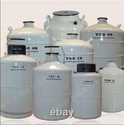 6L Liquid Nitrogen Tank Cryogenic LN2 Container Dewar with Straps U