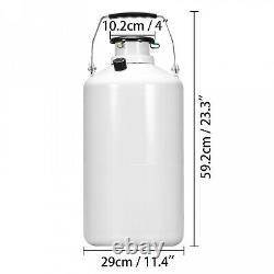 6l Liquid Nitrogen Tank Cryogenic Container Ln2 Dewar+6pcs Pails+lock Cover