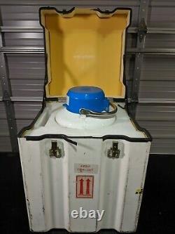 Air Liquide Voyageur 12 Cryo Storage Dry Shipper 15L Tank Liquid Nitrogen Dewar
