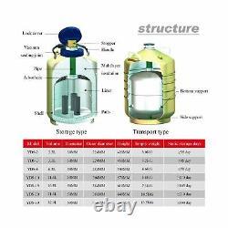 CGOLDENWALL 6L Cryogenic Container Liquid Nitrogen LN2 Tank Dewar Liquid nitr