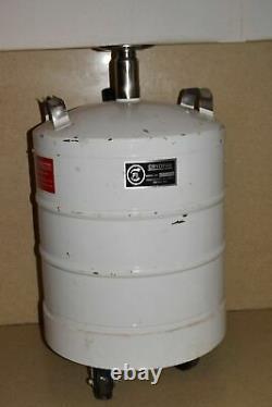 CRYOFAB MODEL # CFL-25 25 LITRE LIQUID NITROGEN DEWAR With CASTERED WHEELS
