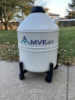 Chart MVE Lab 30 Liquid Nitrogen Cryogenic Storage Dewar Plus Free MVE 10