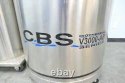 Cryo Biosystems V3000 Liquid Nitrogen Dewar with Warranty SEE VIDEO