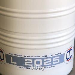 Cryo Diffusion L-2025 25l Aluminum Dewar Liquid Nitrogen Tank