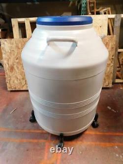 CryoSafe SSB IV Liquid Nitrogen Storage Dewar with Rolling Base