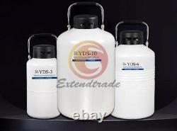 Cryogenic Liquid Nitrogen YDS-3 3L Container LN2 Tank Dewar with Straps