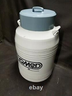 Cryomed 8031 Cryogenic Liquid Nitrogen Dewar Seman Tank with Sample Racks