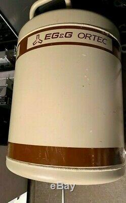 Eg&g Ortec 30l Liquid Nitrogen Dewar Tank Spectrometer (bottle Only)